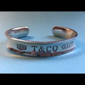 Tiffany 1837 Sterling Silver Cuff Bracelet ca 1997
